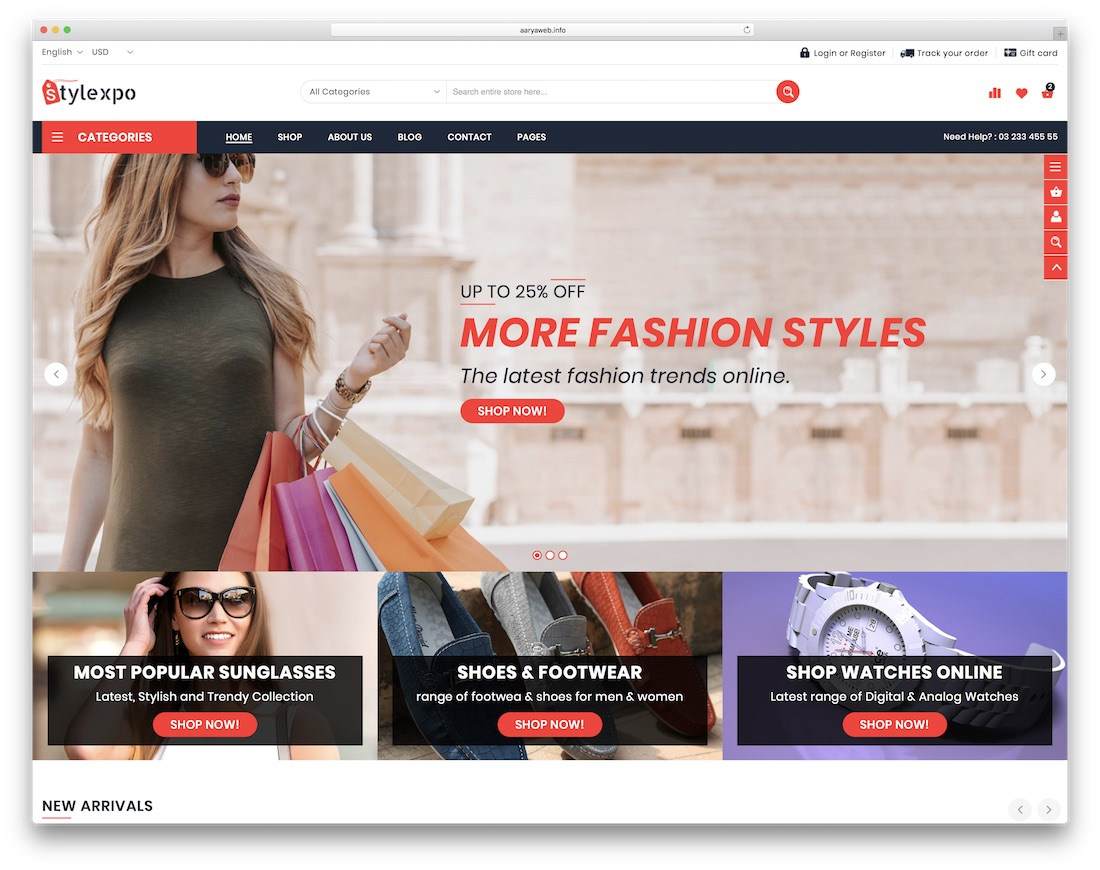 stylexpo ecommerce website template