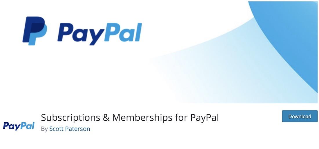 subscriptions memberships for paypal wordpress plugin