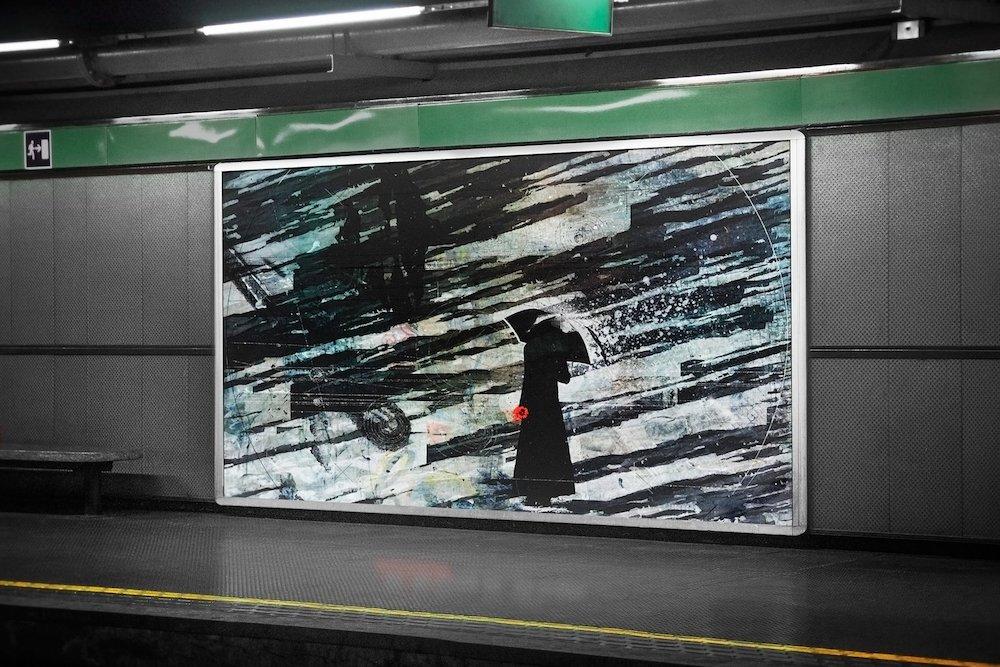 subway signage mockup