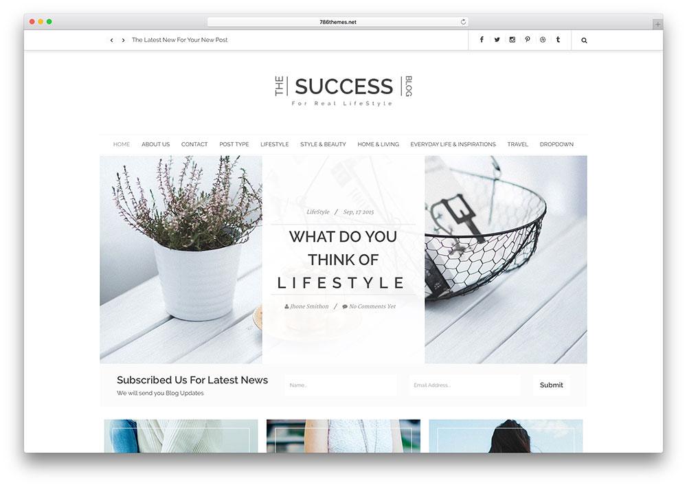success-minimal-blog-html5-template
