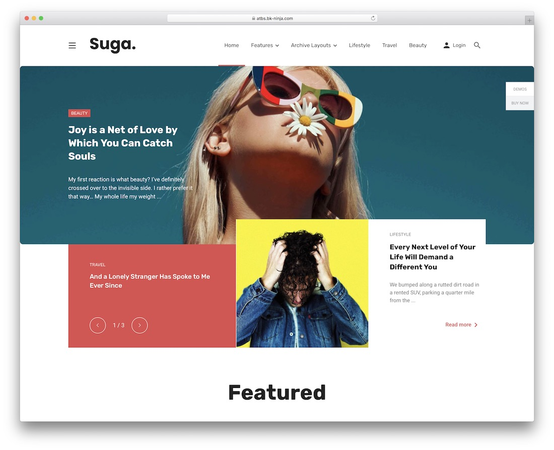 suga magazine wordpress theme