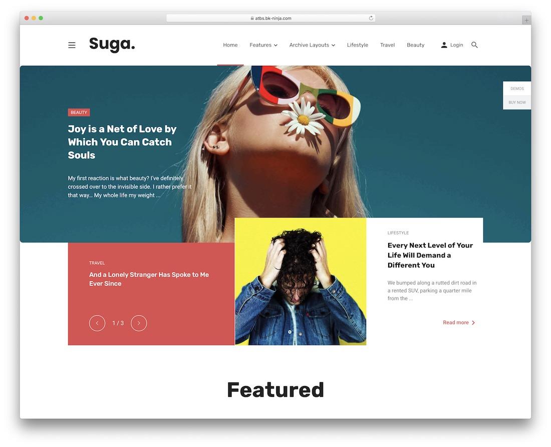 suga wordpress review theme