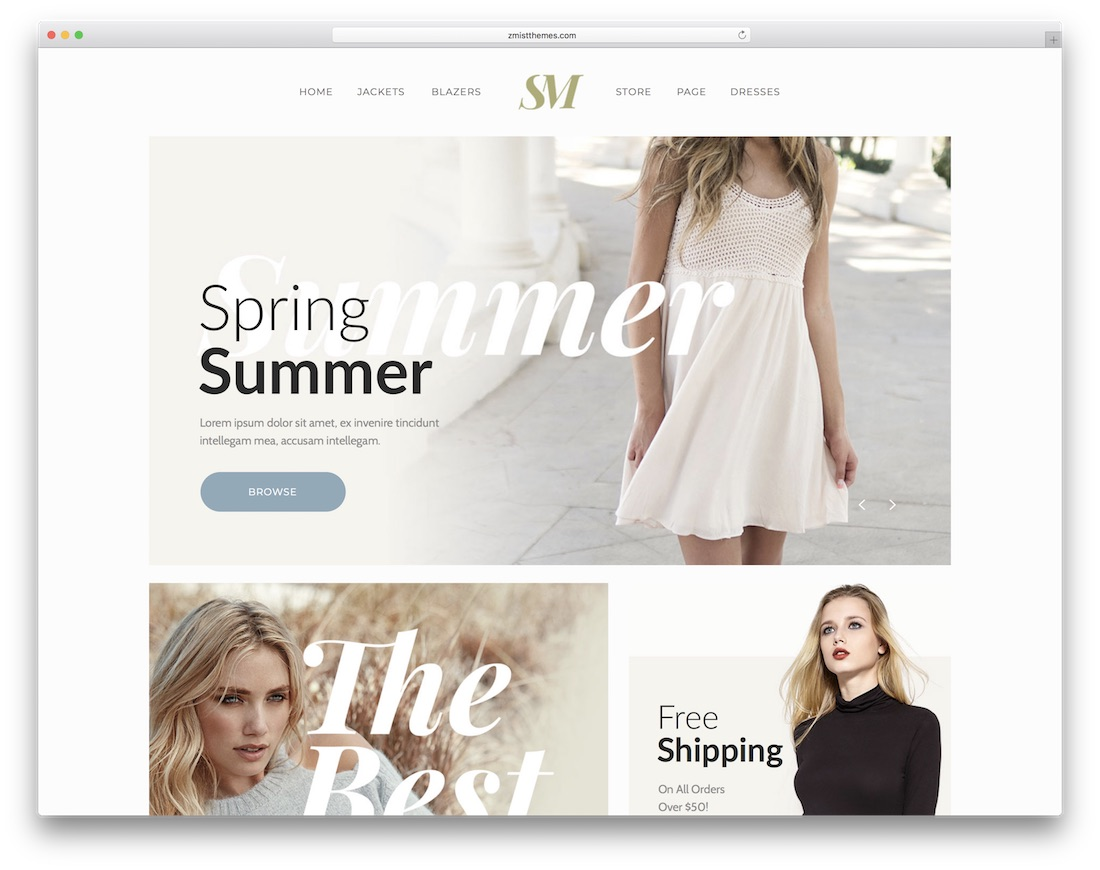 summer moon ecommerce adobe muse template