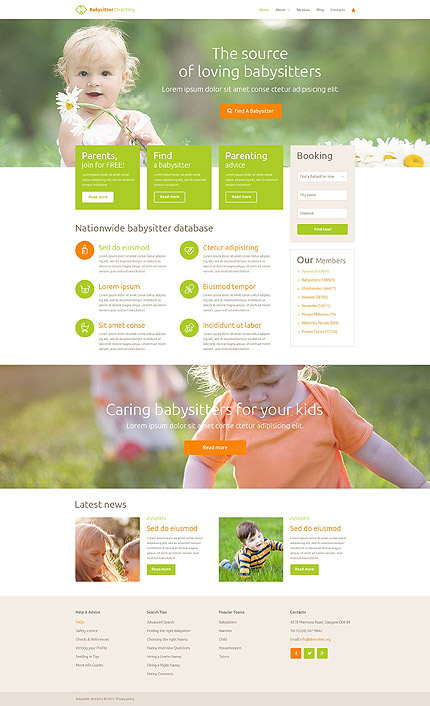 Babysitting WordPress Theme