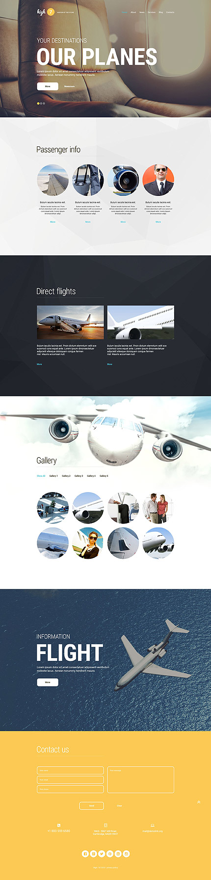 Transportation WordPress Theme