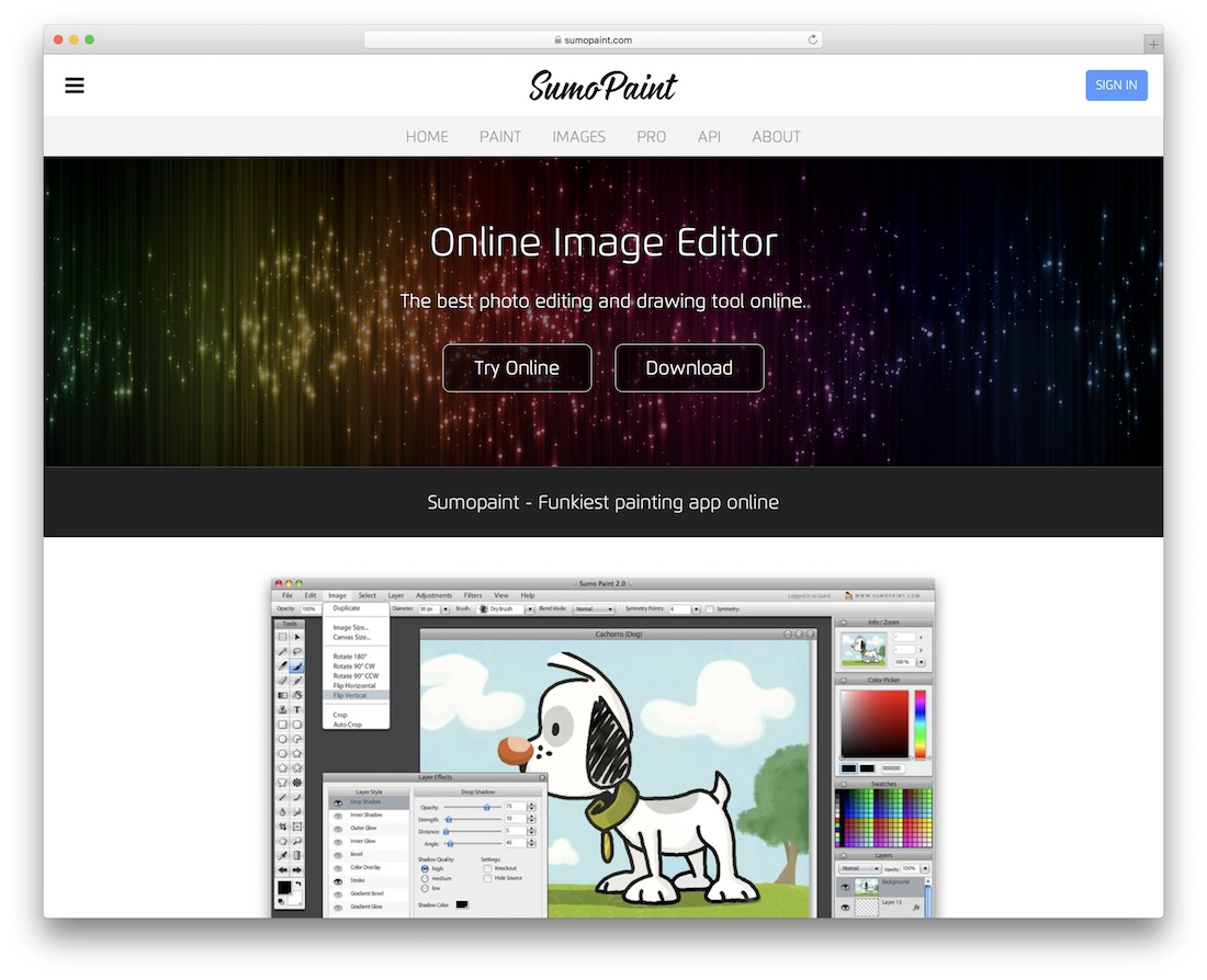 sumopaint free online image editor