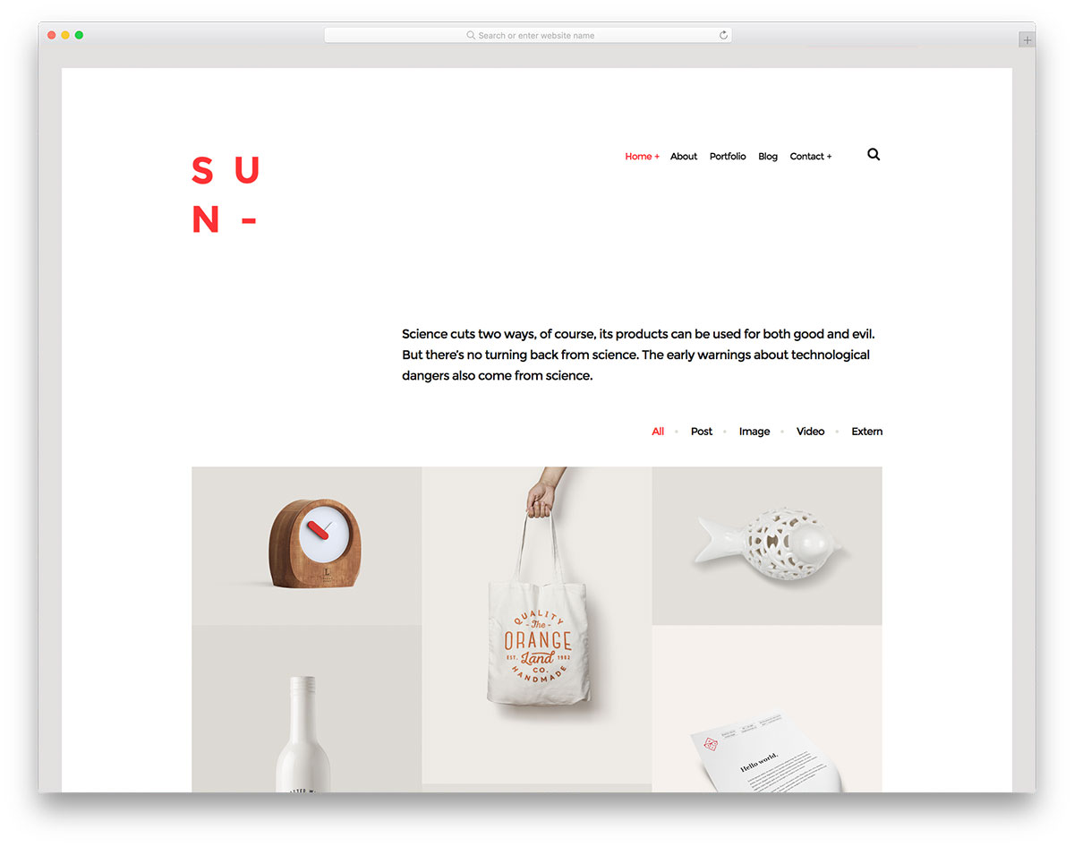 Sun - Bootstrap gallery template