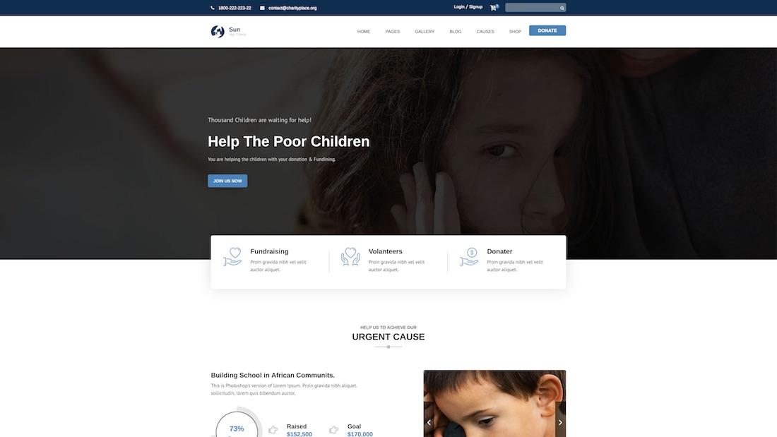 sun website template