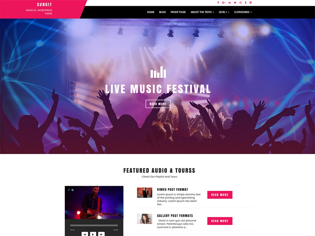 free music wordpress theme