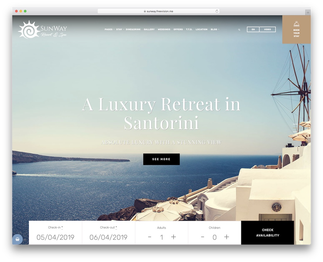 sunway hotel wordpress theme incredible design