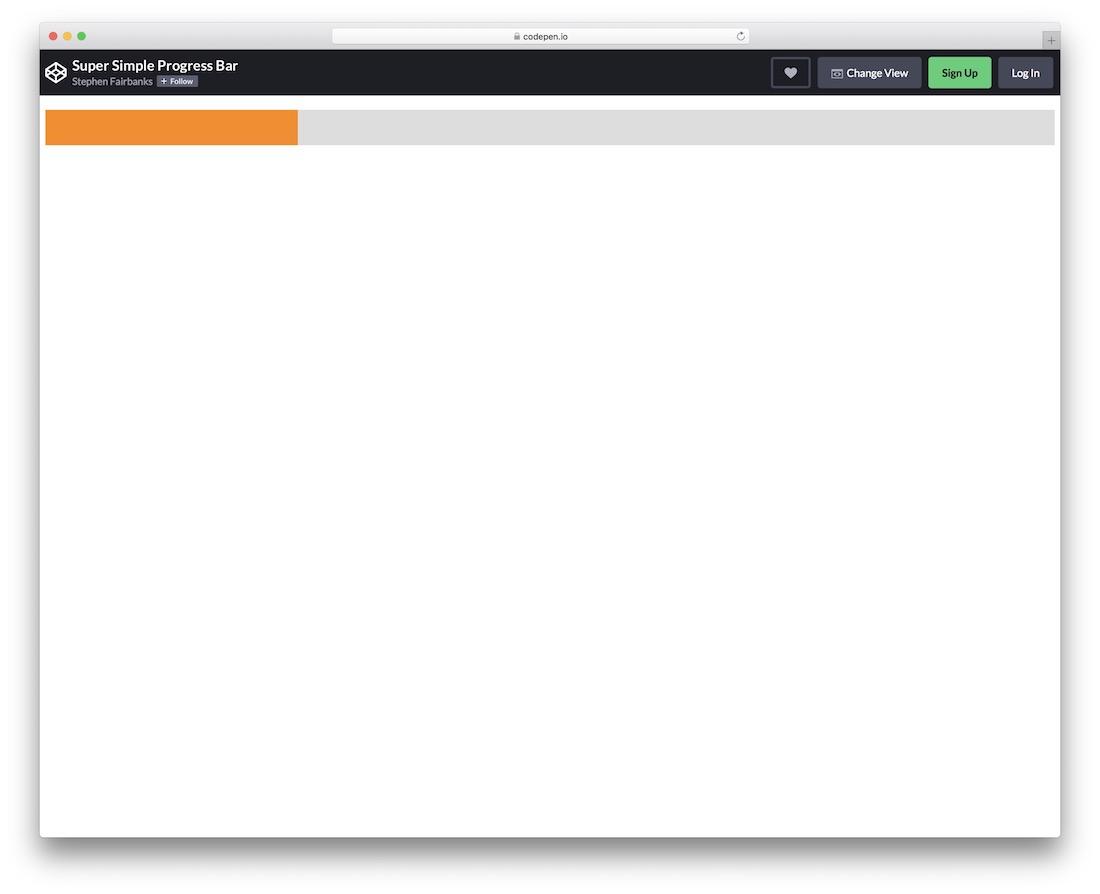 super simple progress bar