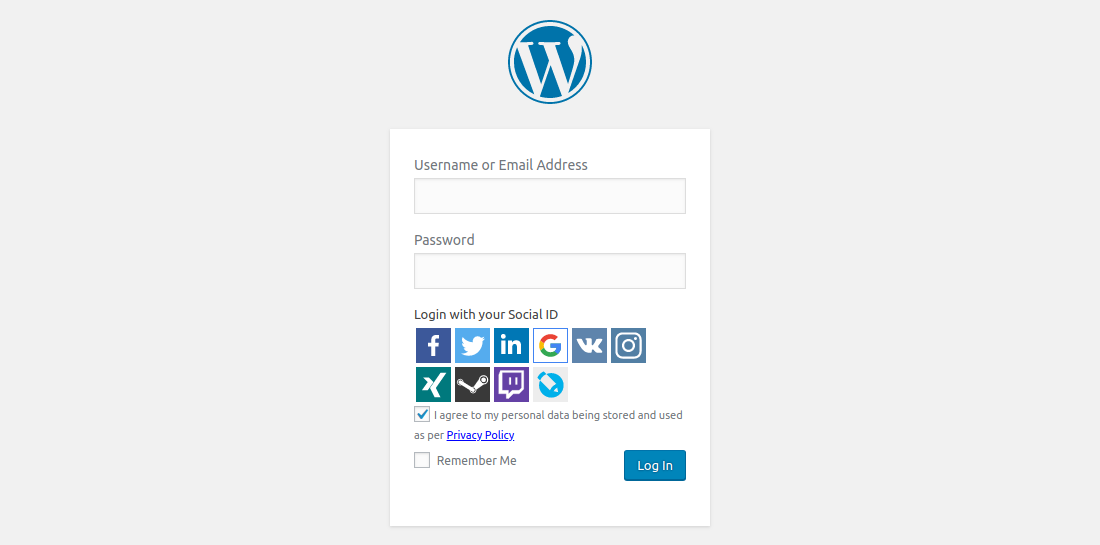 Organized WordPress Login Plugins