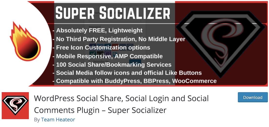 super socializer wordpress social sharing plugin