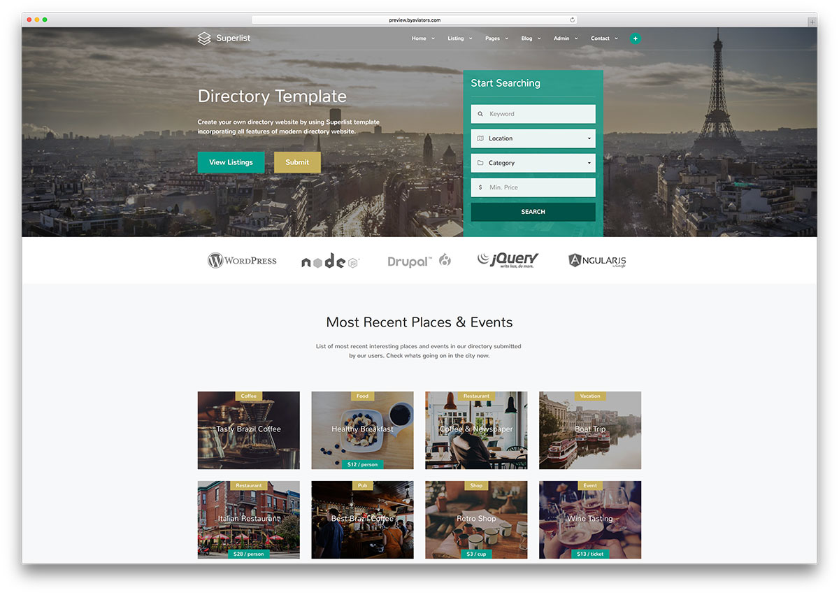 superlist-creative-directory-html-website-template