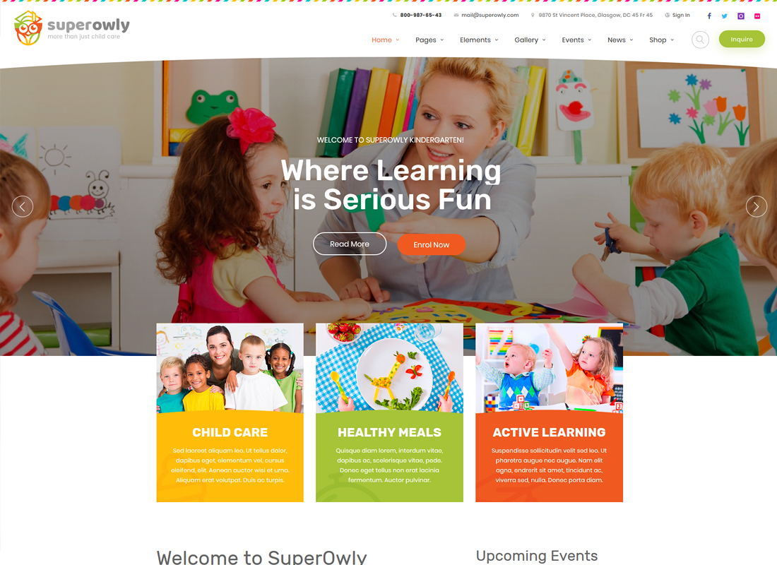 SuperOwly | Kids WordPress Theme
