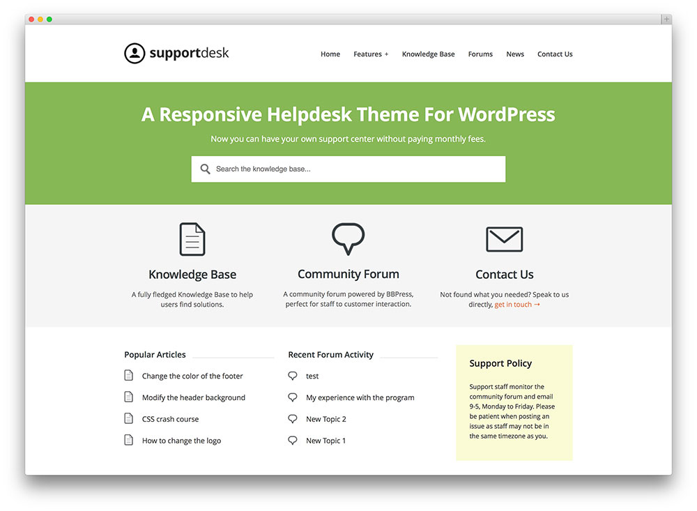 supportdesk solutions knowledge wordpress theme