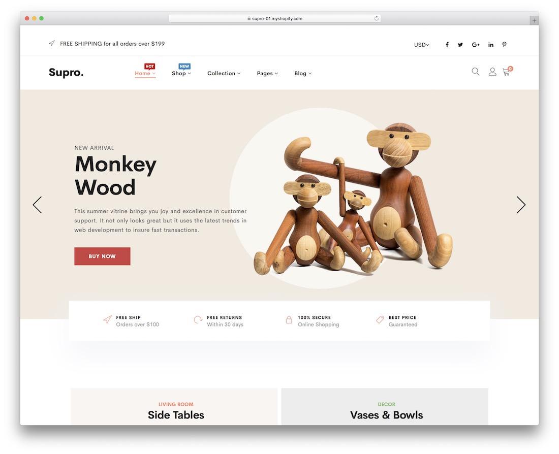 supro shopify landing page theme