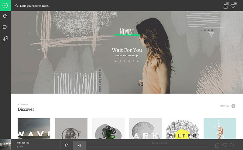 Sura music streaming WordPress theme