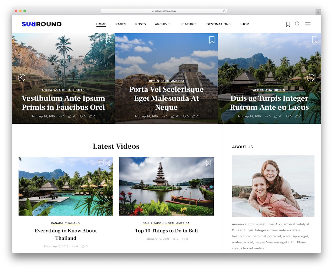 surround wordpress video theme