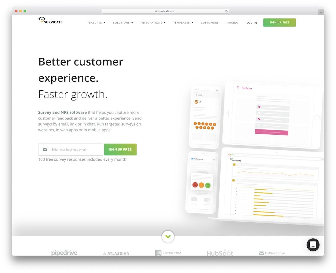 survicate free wordpress survey plugin