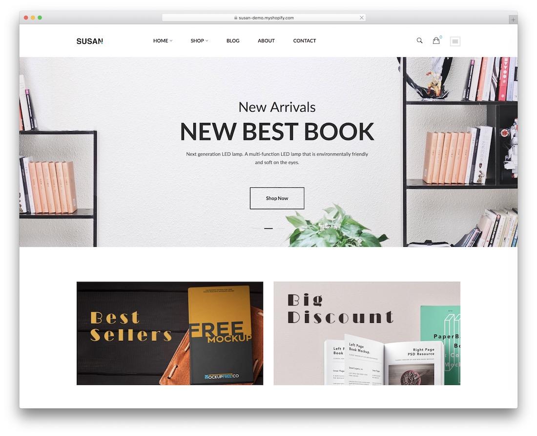 susan shopify bookstore theme