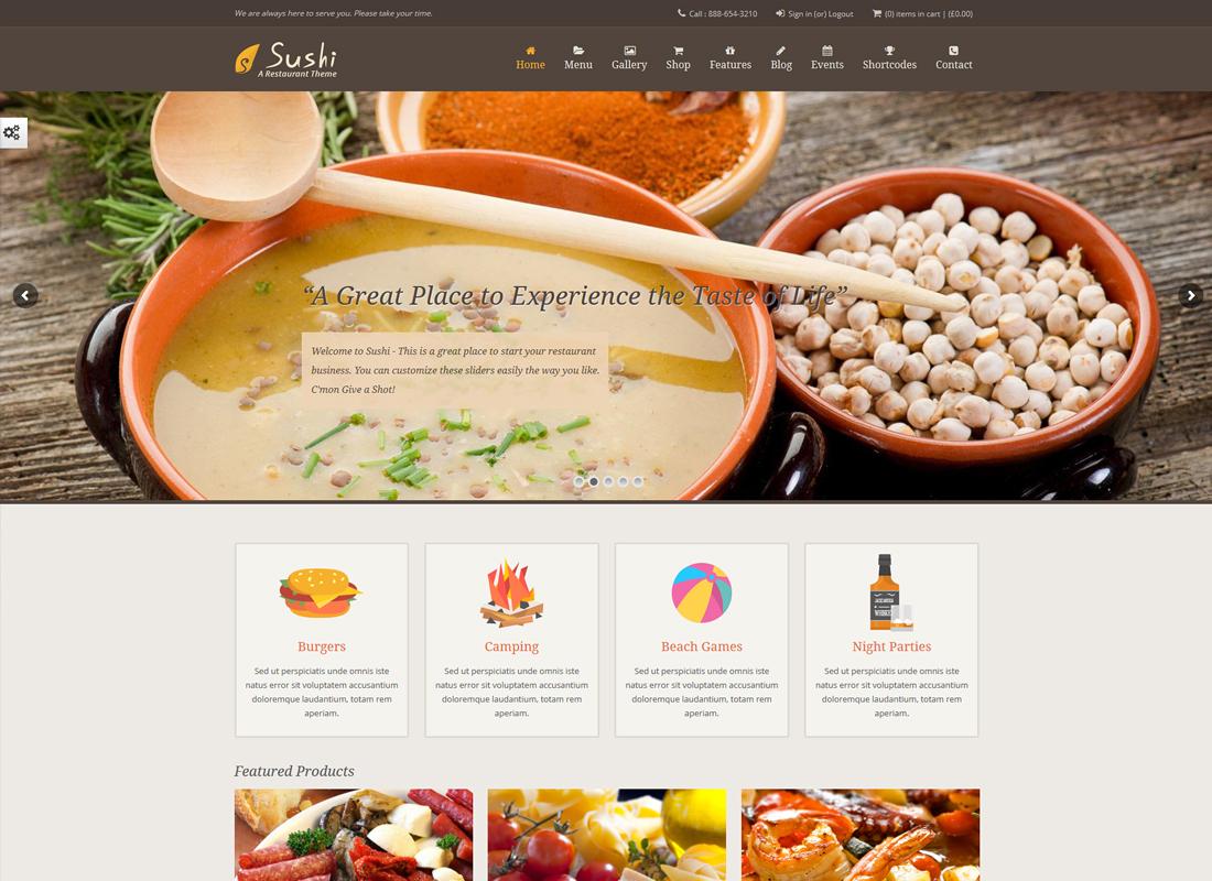 Sushi Restaurant | Food & Restaurant Theme