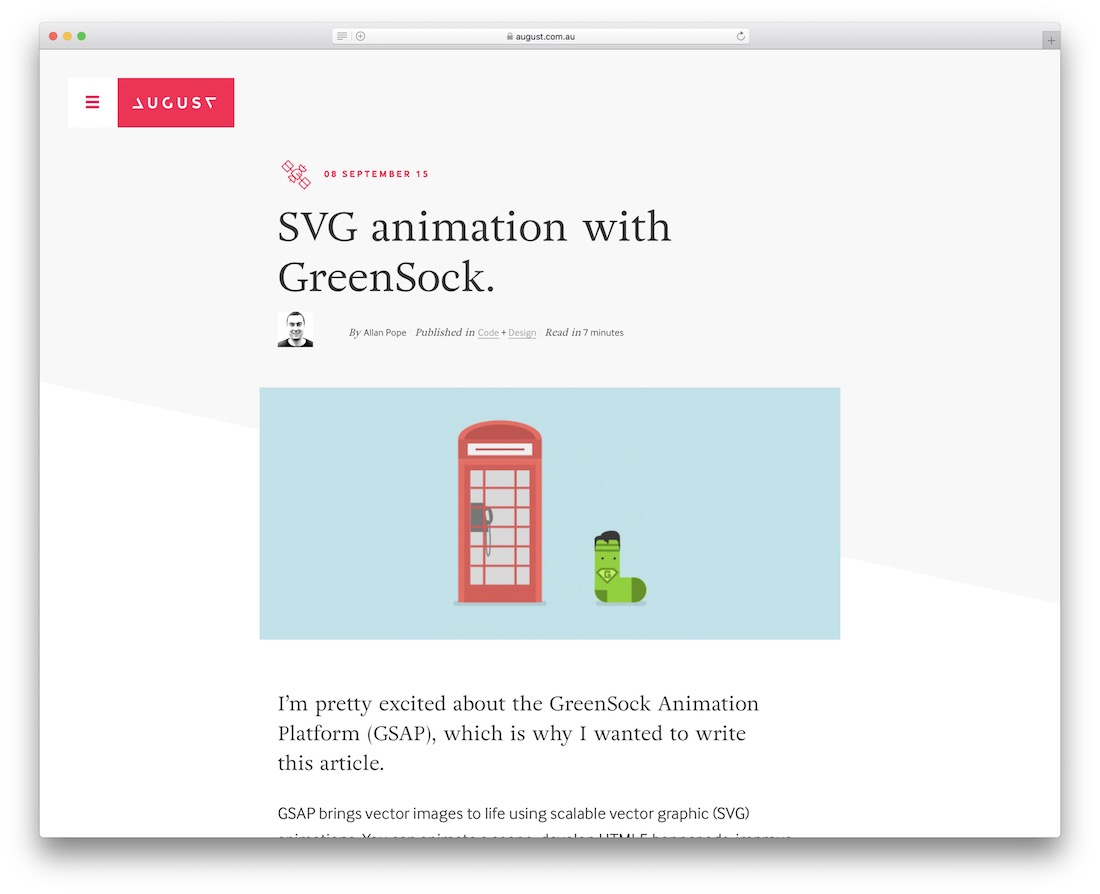 svg animation with greensock