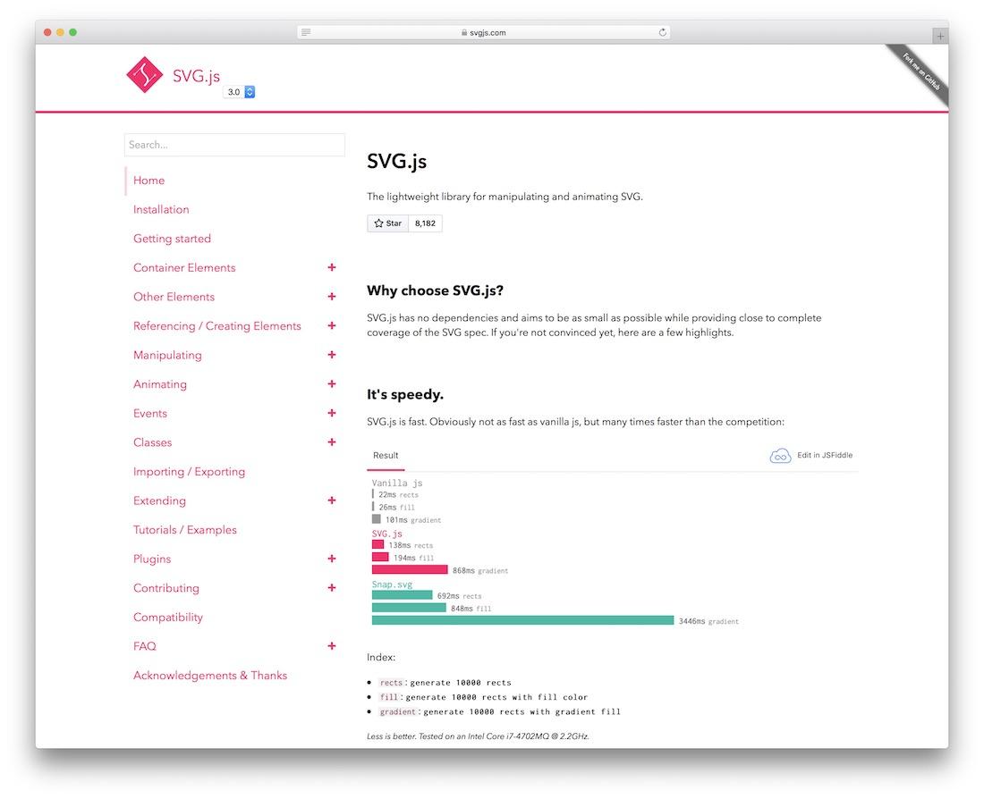 svg js lightweight animating svg editor tool