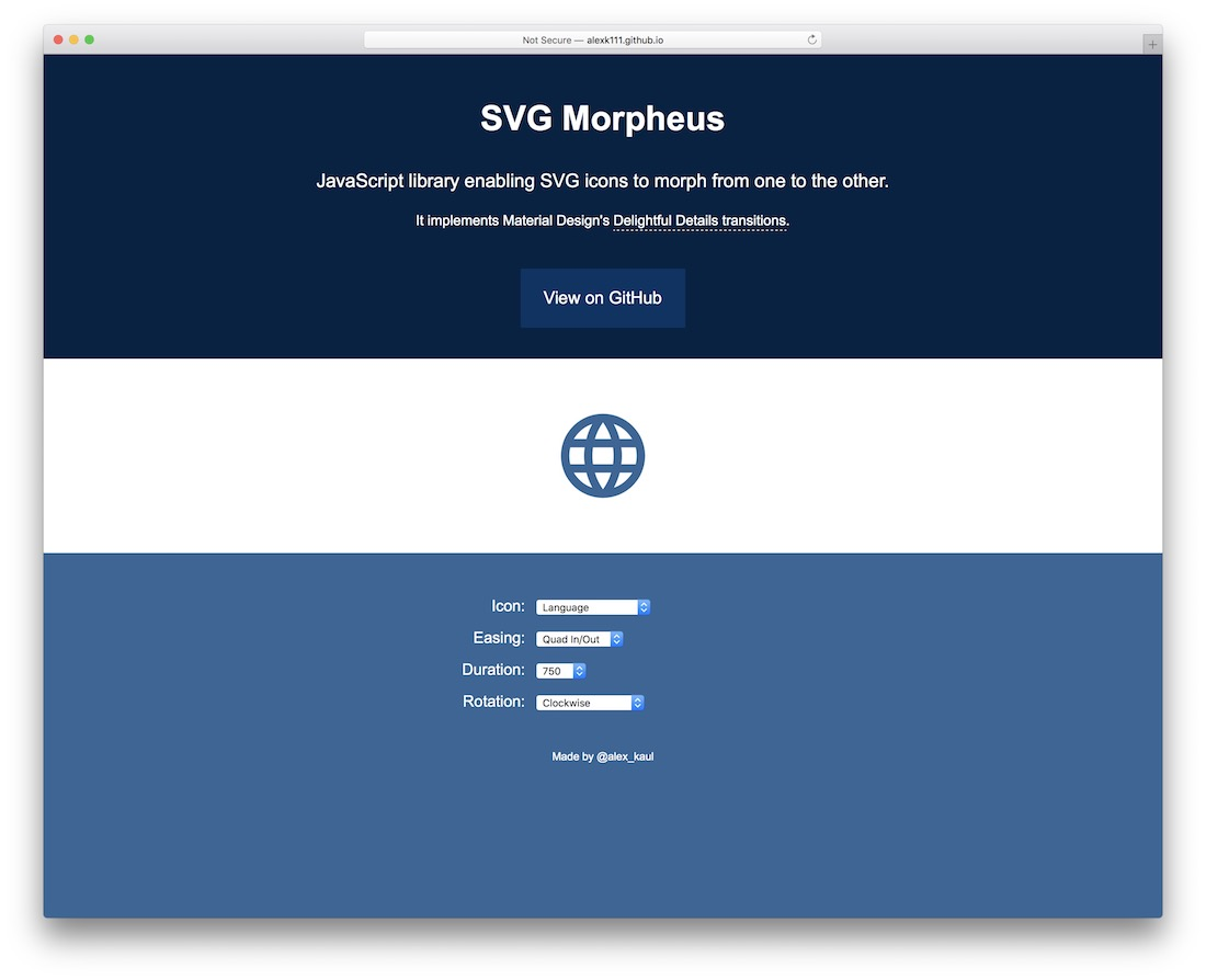svg morpheus js library svg icons tool