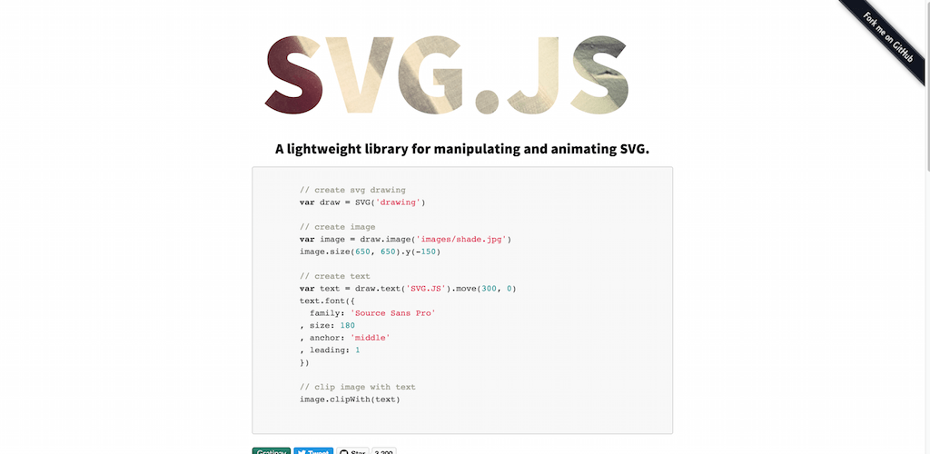 svg.js A lightweight JavaScript library for manipulating and animating svg