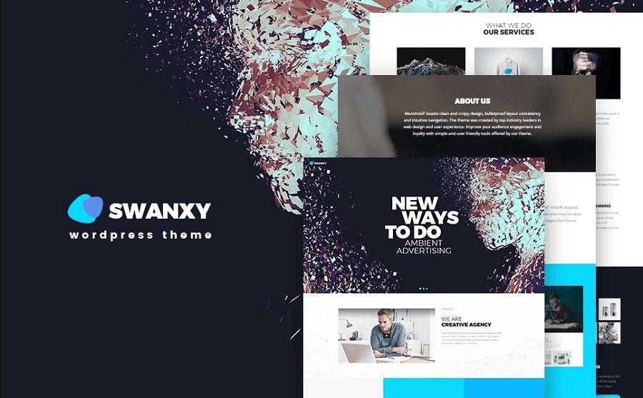 Swanxy - Ad Agency WordPress Theme