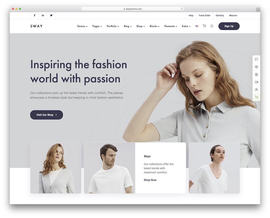 sway fashion ecommerce theme