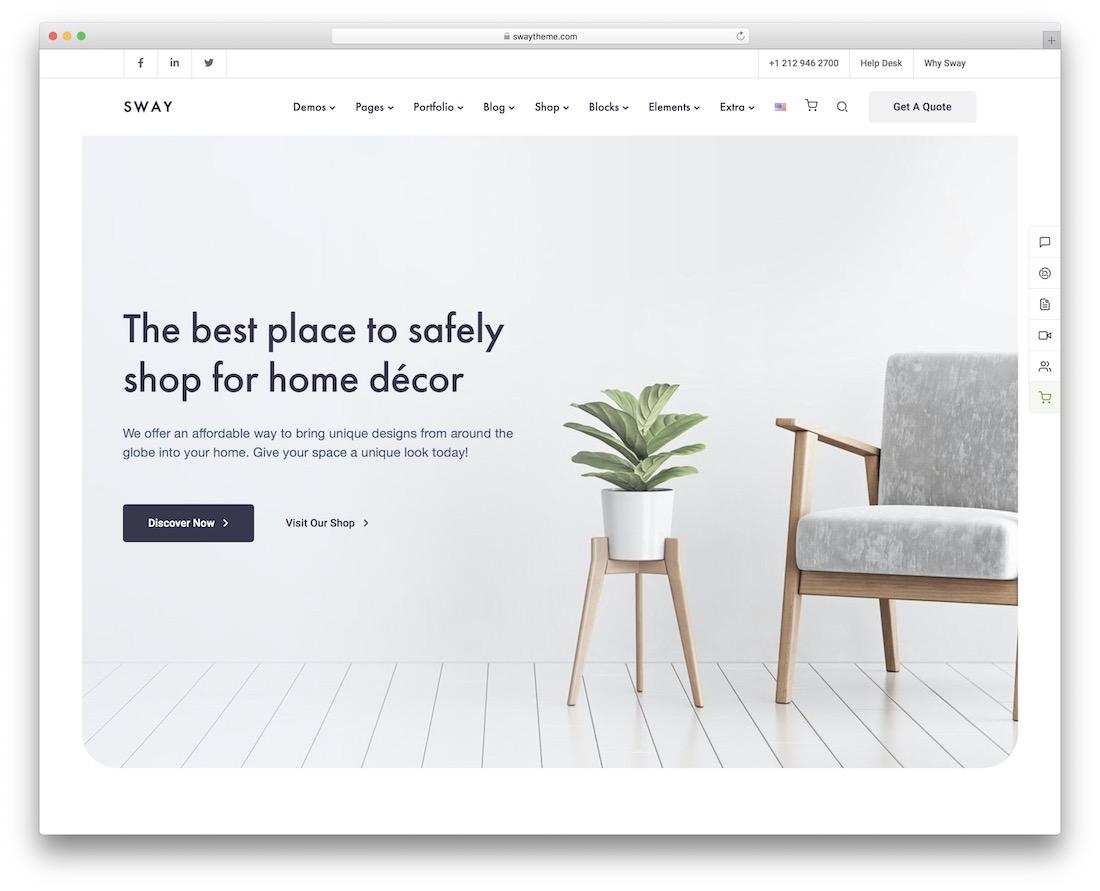 sway interior design wordpress theme