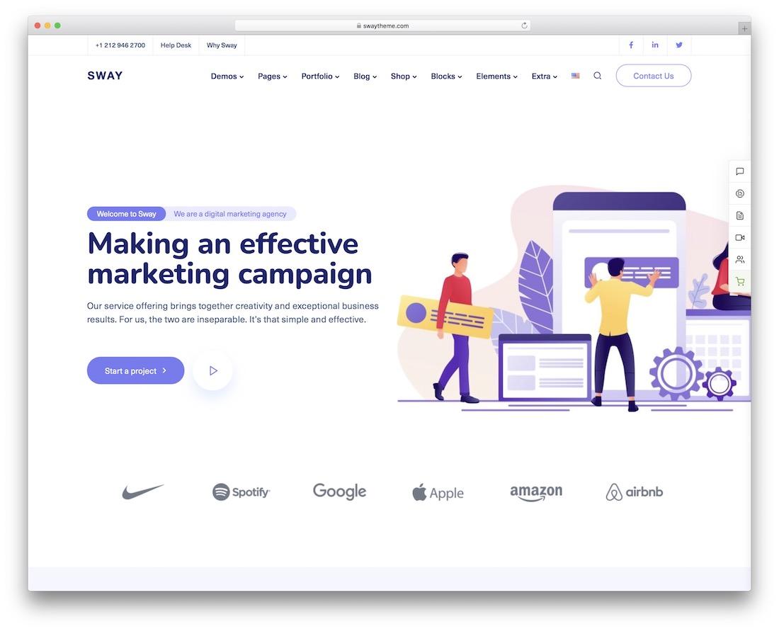 sway marketing wordpress theme