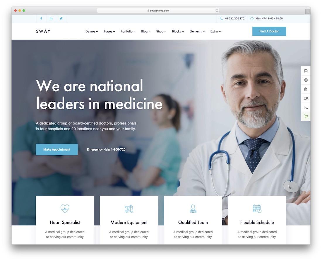 sway medical wordpress theme