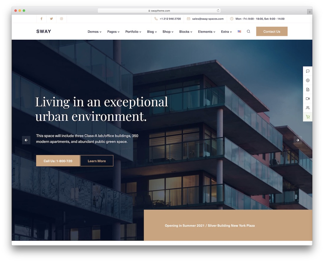 sway real estate wordpress theme