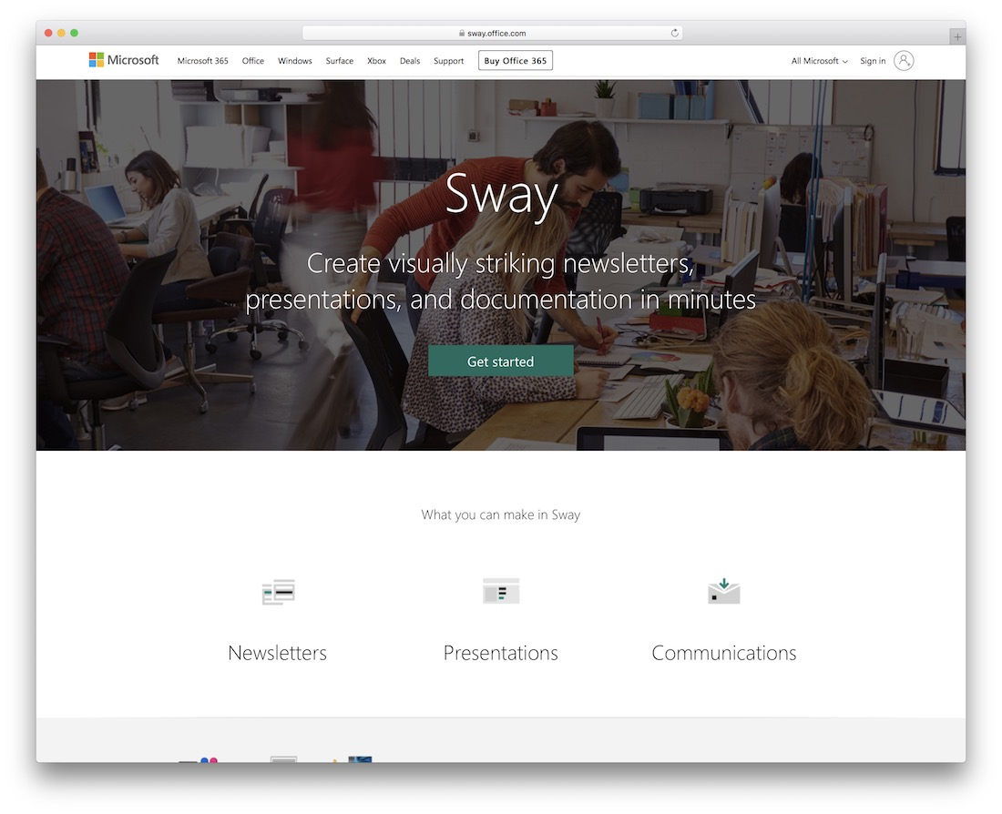 sway tool for presentations