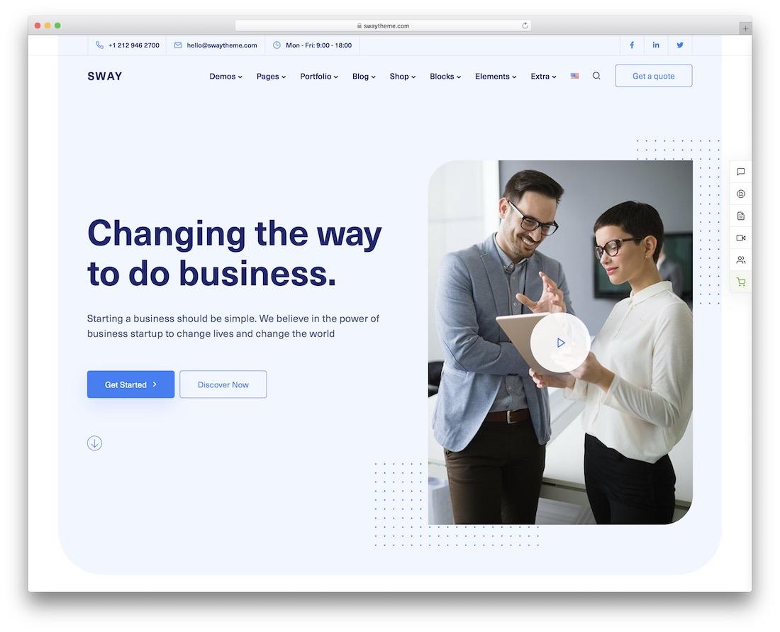 sway wordpress business theme