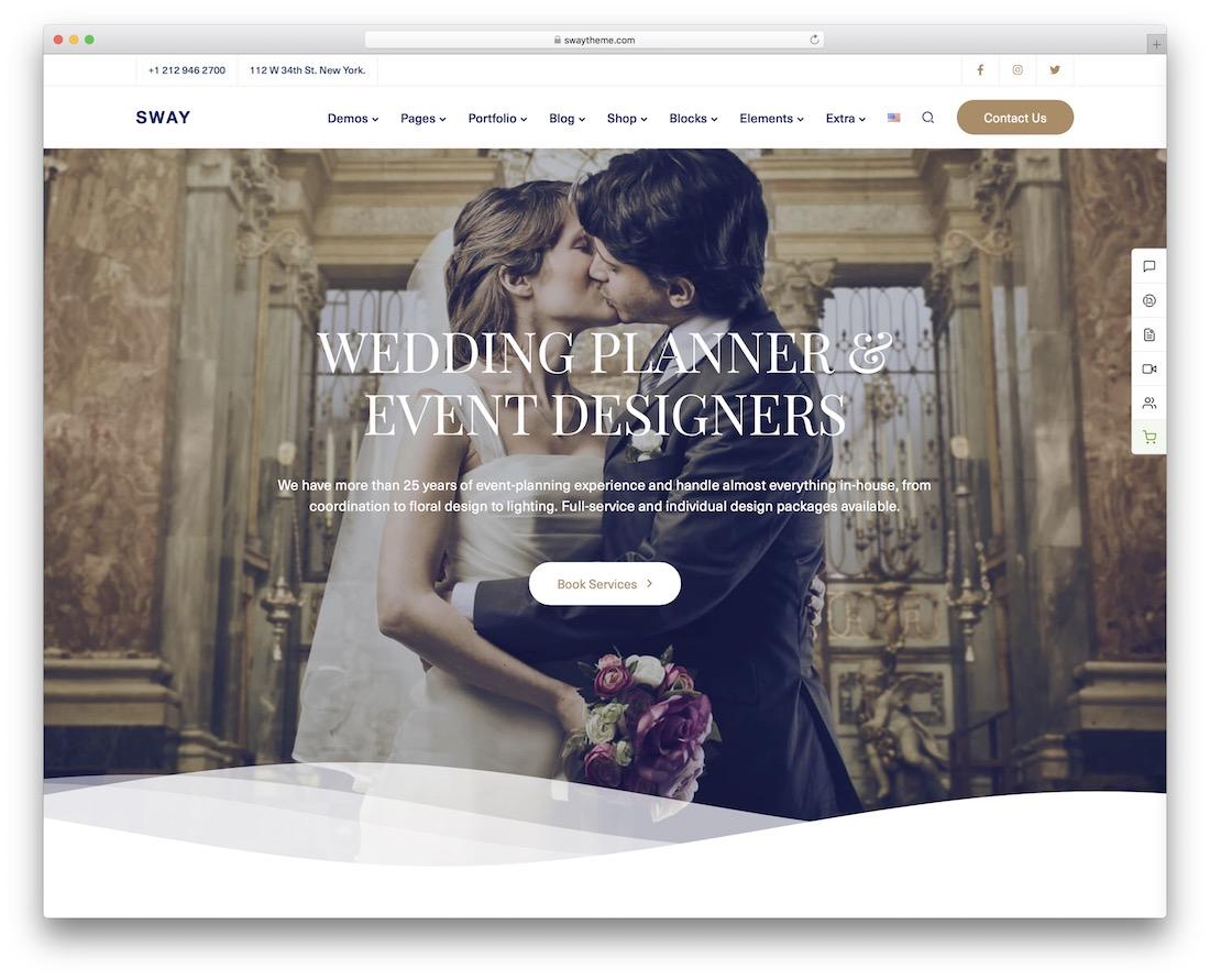 sway wordpress wedding theme