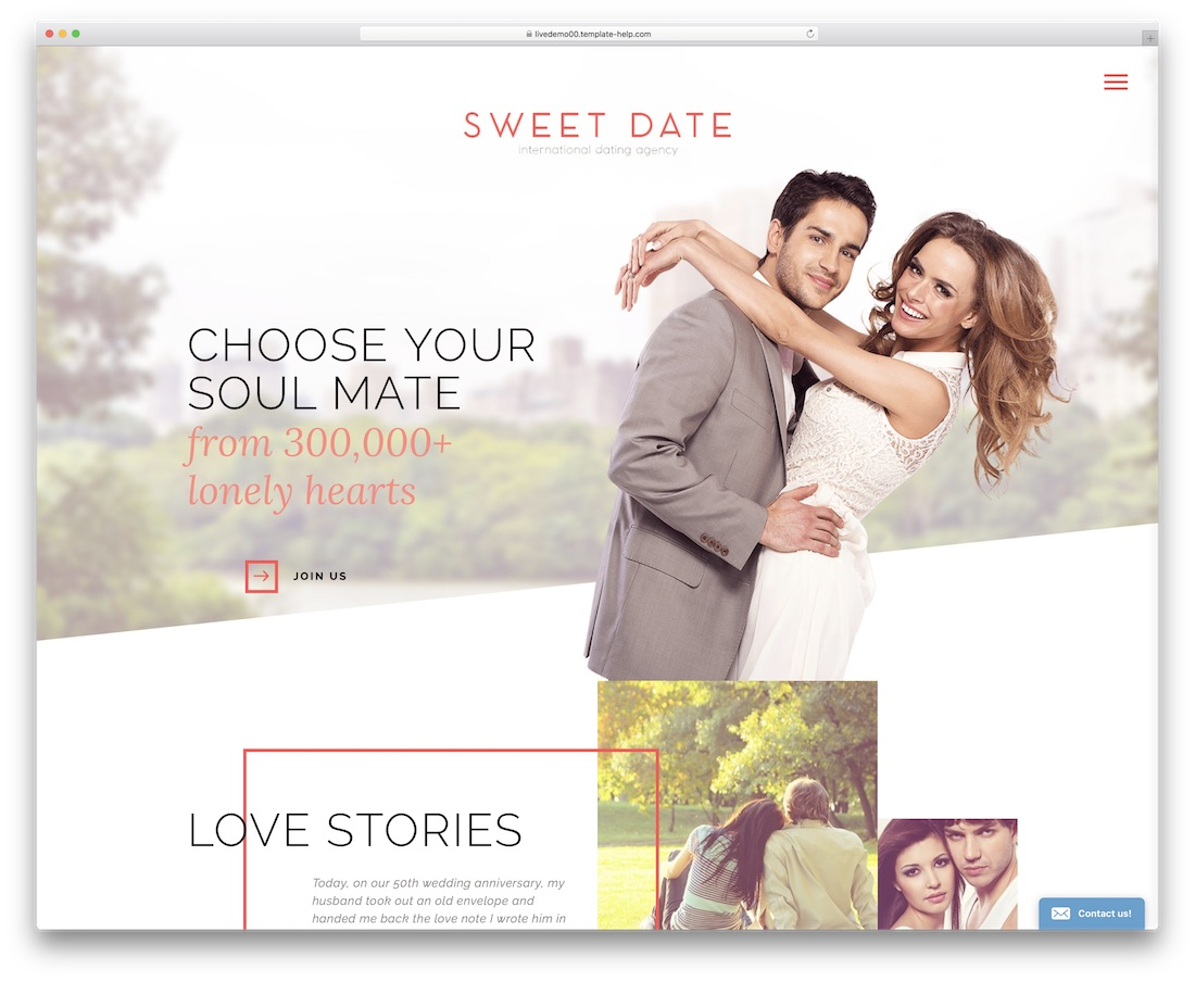 dating website over mij template