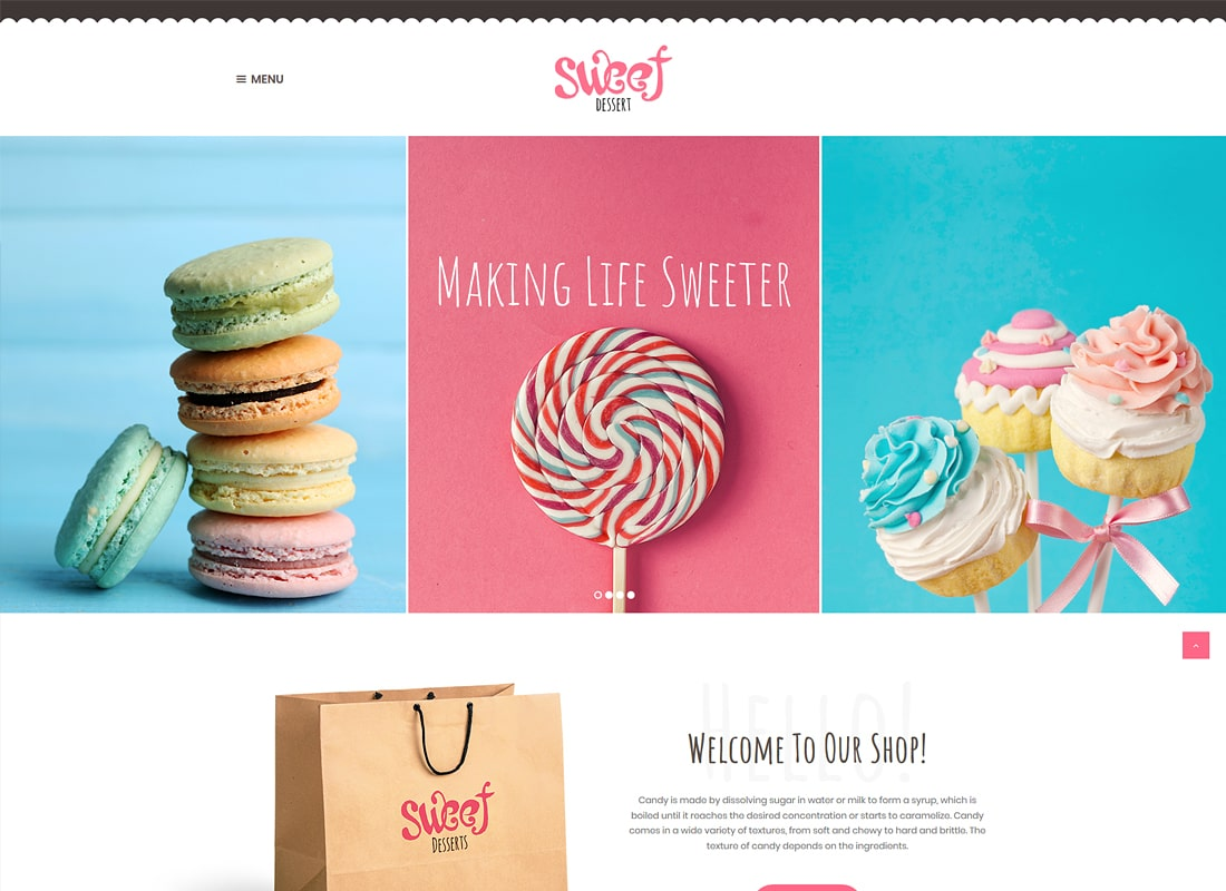 Sweet Dessert | Candy Shop & Cafe WordPress Theme