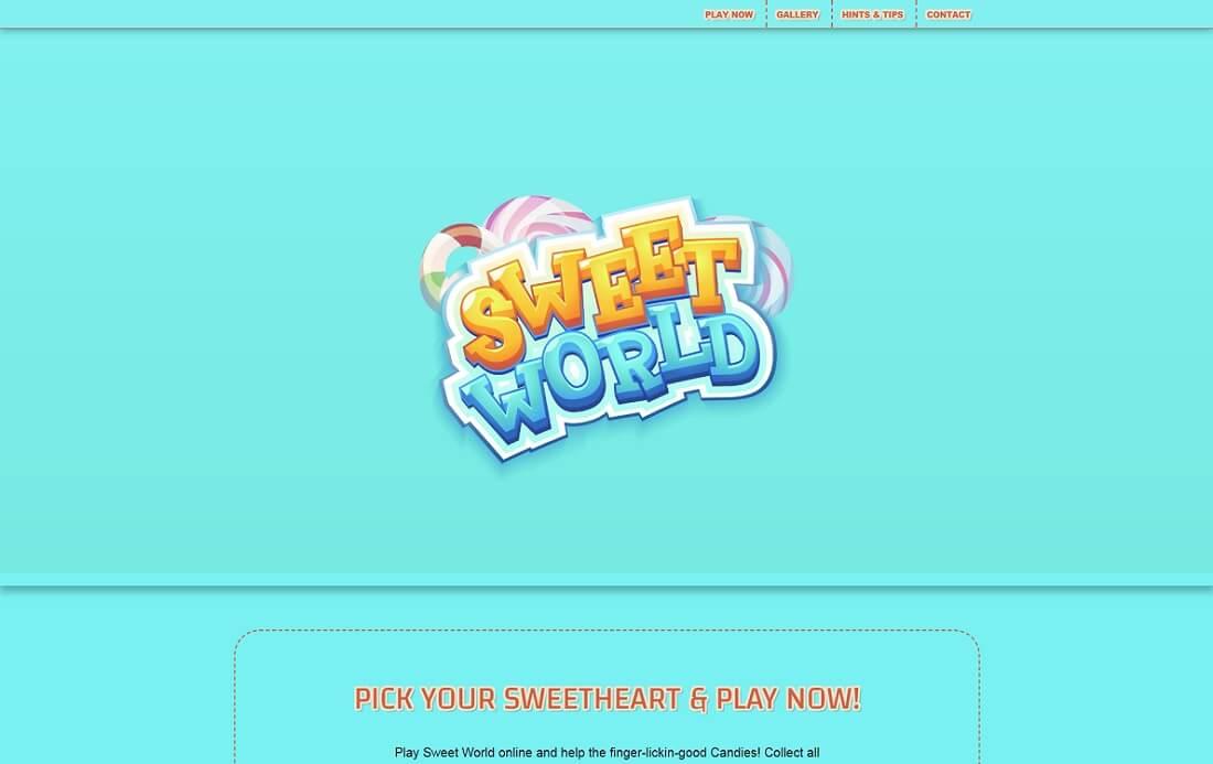 sweet world website template
