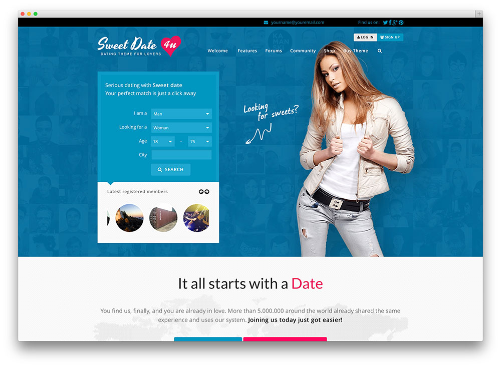 sweetdate dating wordpress theme