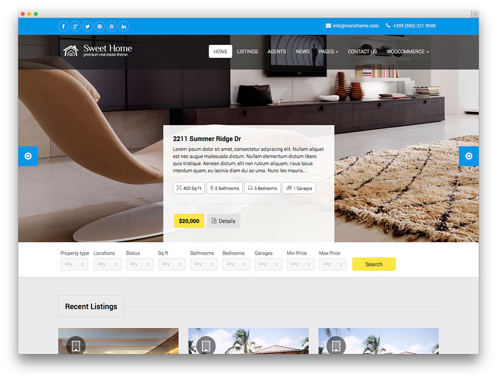 36 Best Real Estate WordPress Themes For Agencies Realtors And