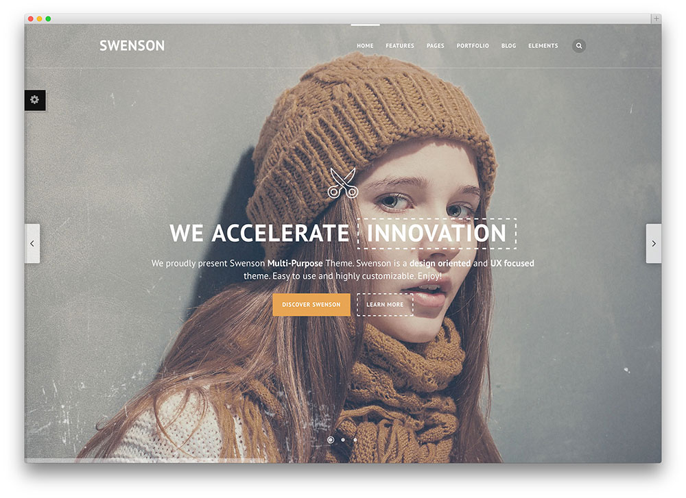 swenson - creative one page parallax