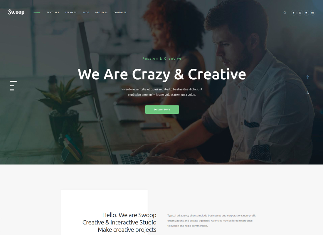 Swoop - Web Studio & Creative Agency WordPress Theme