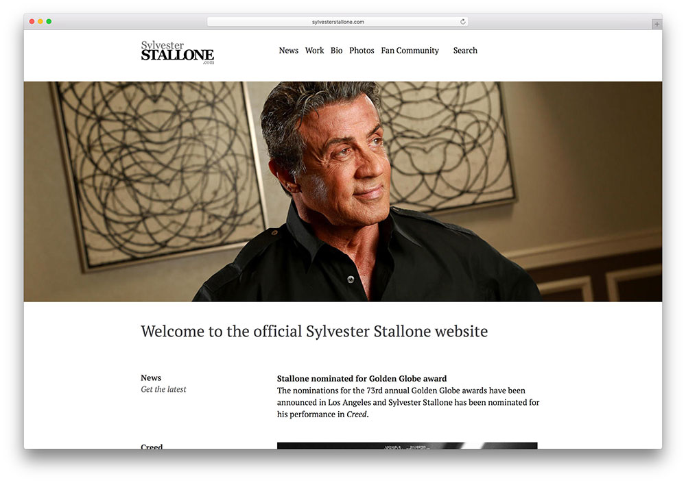 sylvesterstallone-famous-actor-website-using-wordpress