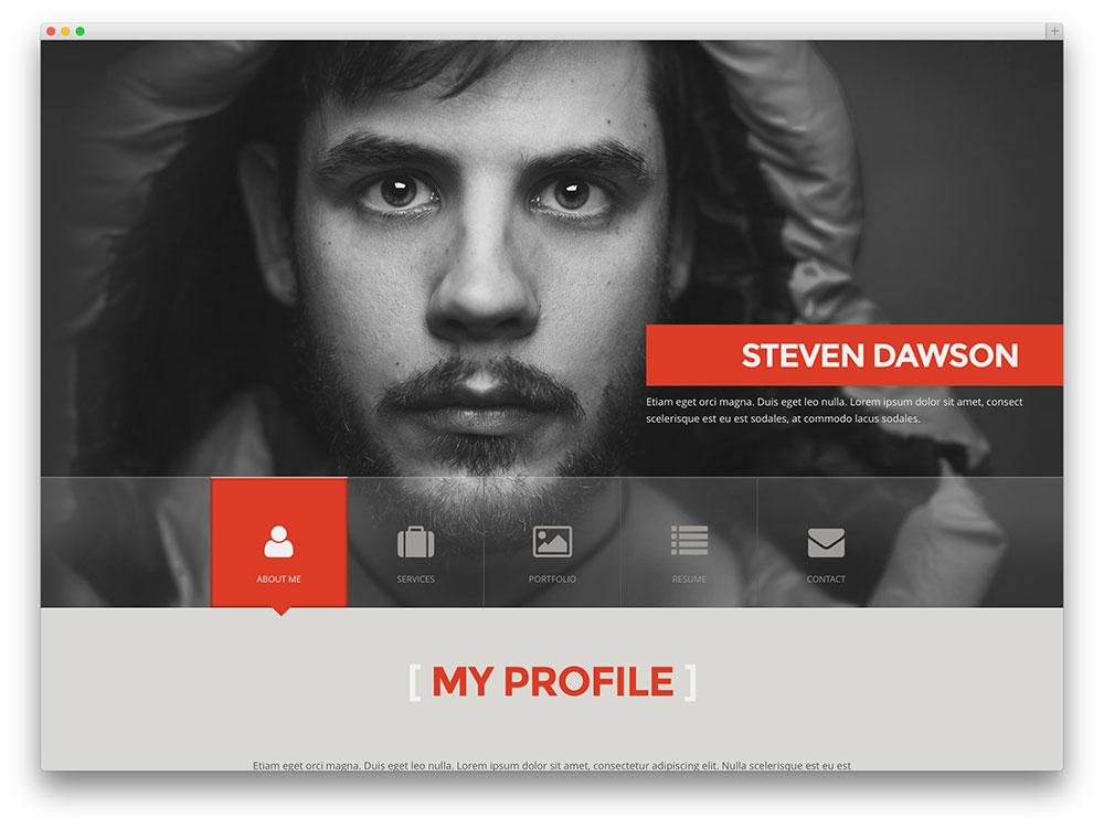 syntac personal portfolio theme