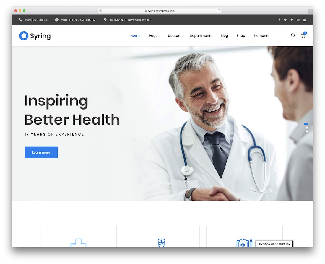 syring medical website template