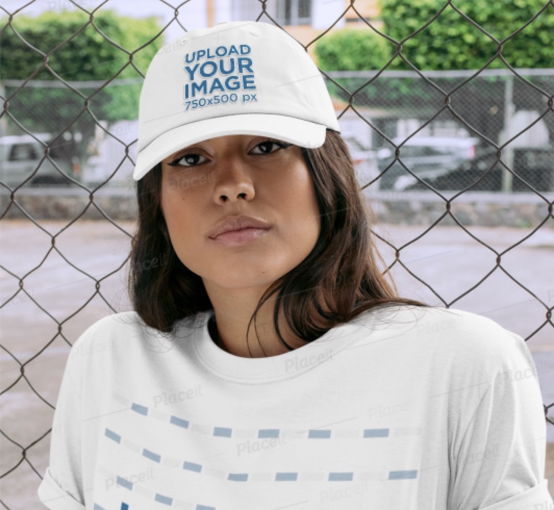 t-shirt and baseball cap mockup